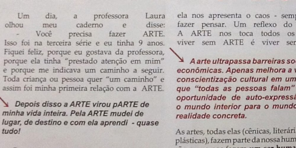 História de Laci Todeschini na Revista Fundamental