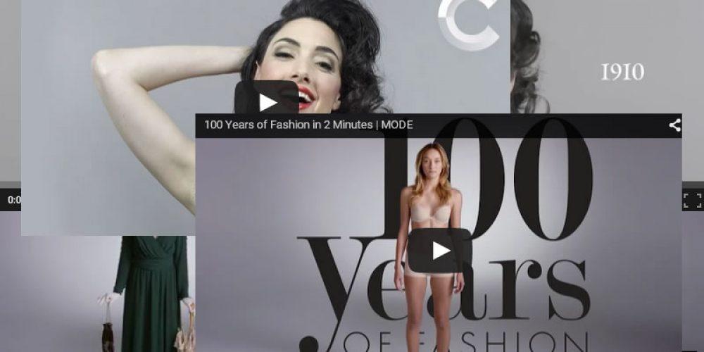 100 anos de Moda e Beleza em minutinhos