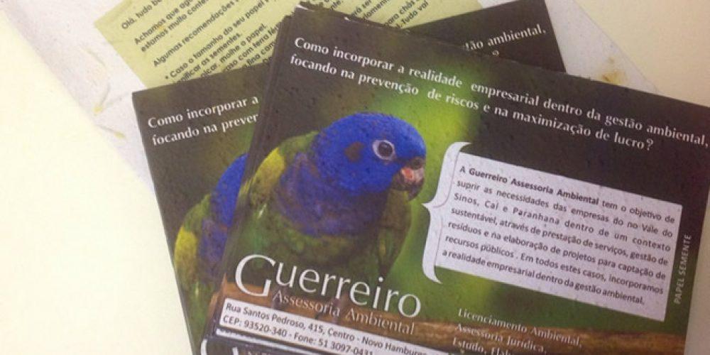 Guerreiro Assessoria Ambiental  – Material em papel semente