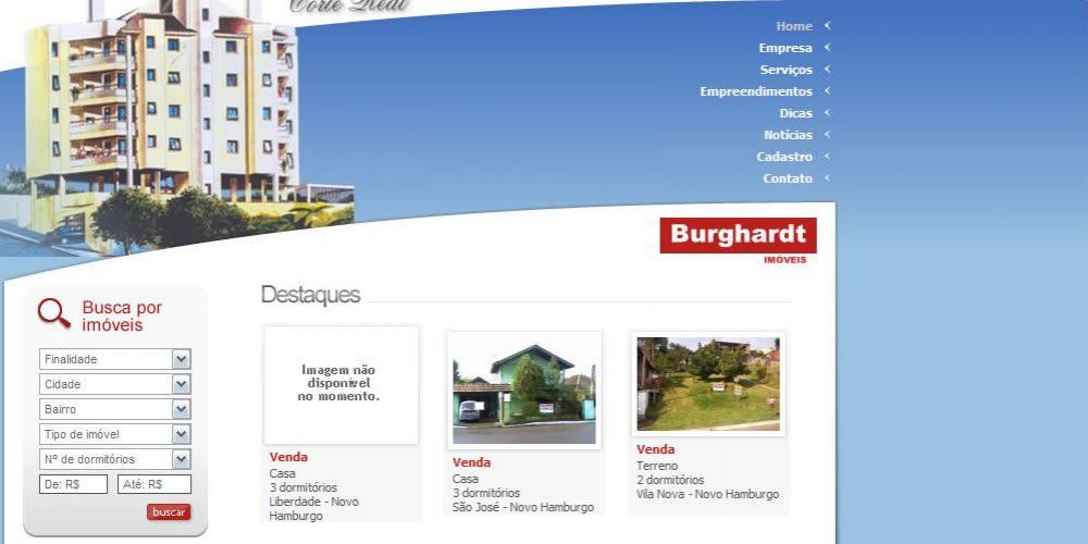 Burghardt – sistema de site de imobiliária