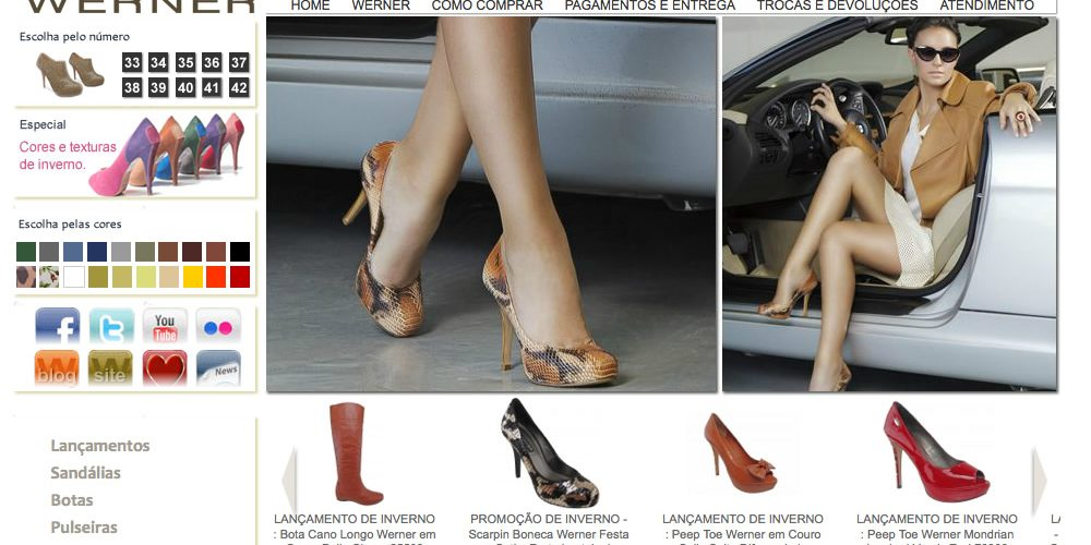 Boutique Werner Online – Loja virtual de calçados femininos – E-commerce